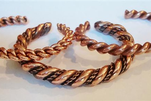 Three Nice Twisted Copper Cuffs
