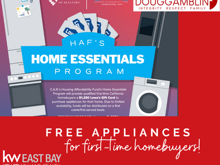 Let's Get Cooking on your FREE home appliances!