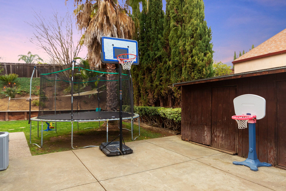 Room for a trampoline and hoops!