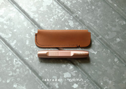 rosegold  with natural tan leather