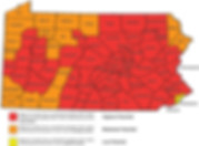 Pittsbugh Radon Levels