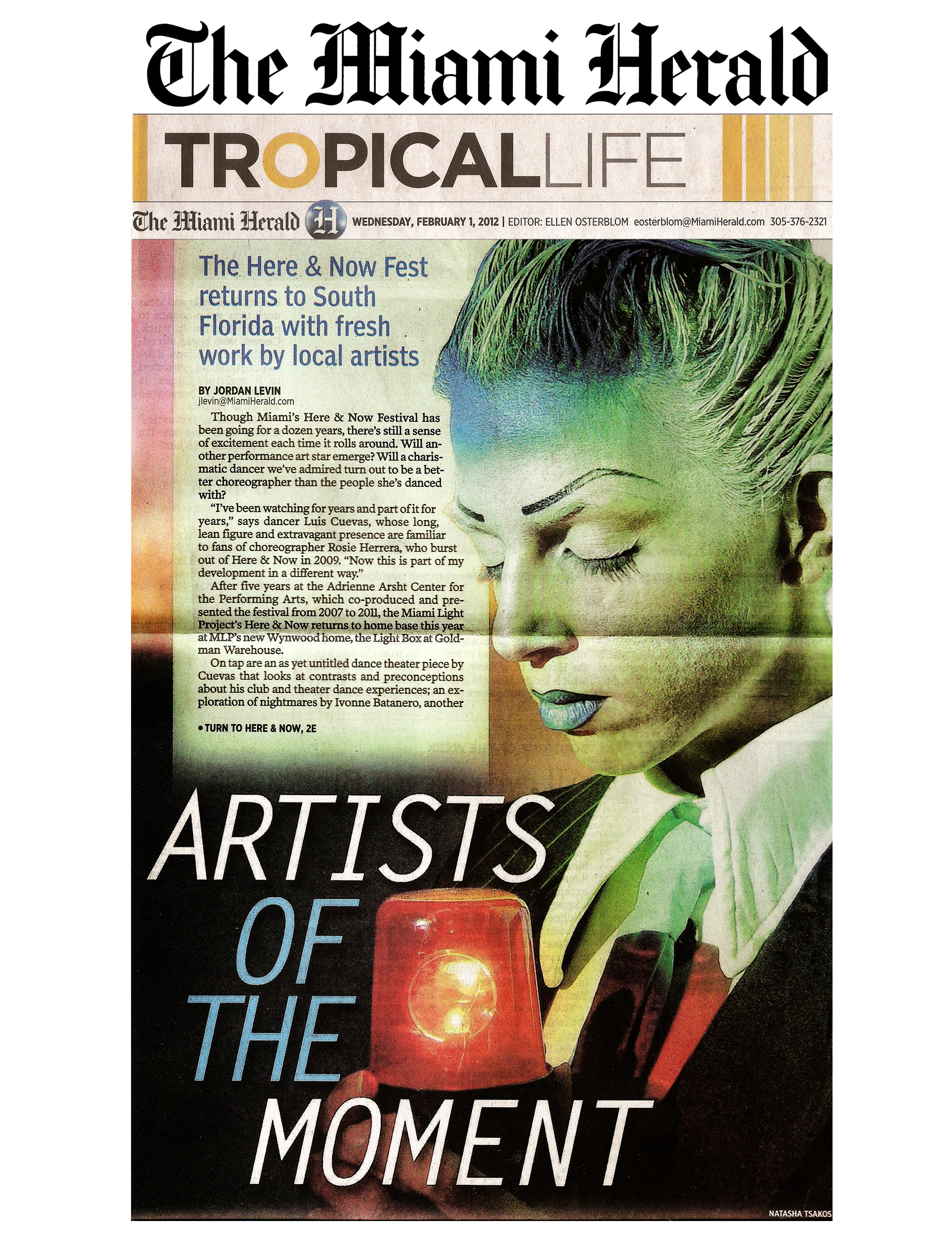 MIAMI HERALD Tropical life Artists of the Moment3 copy