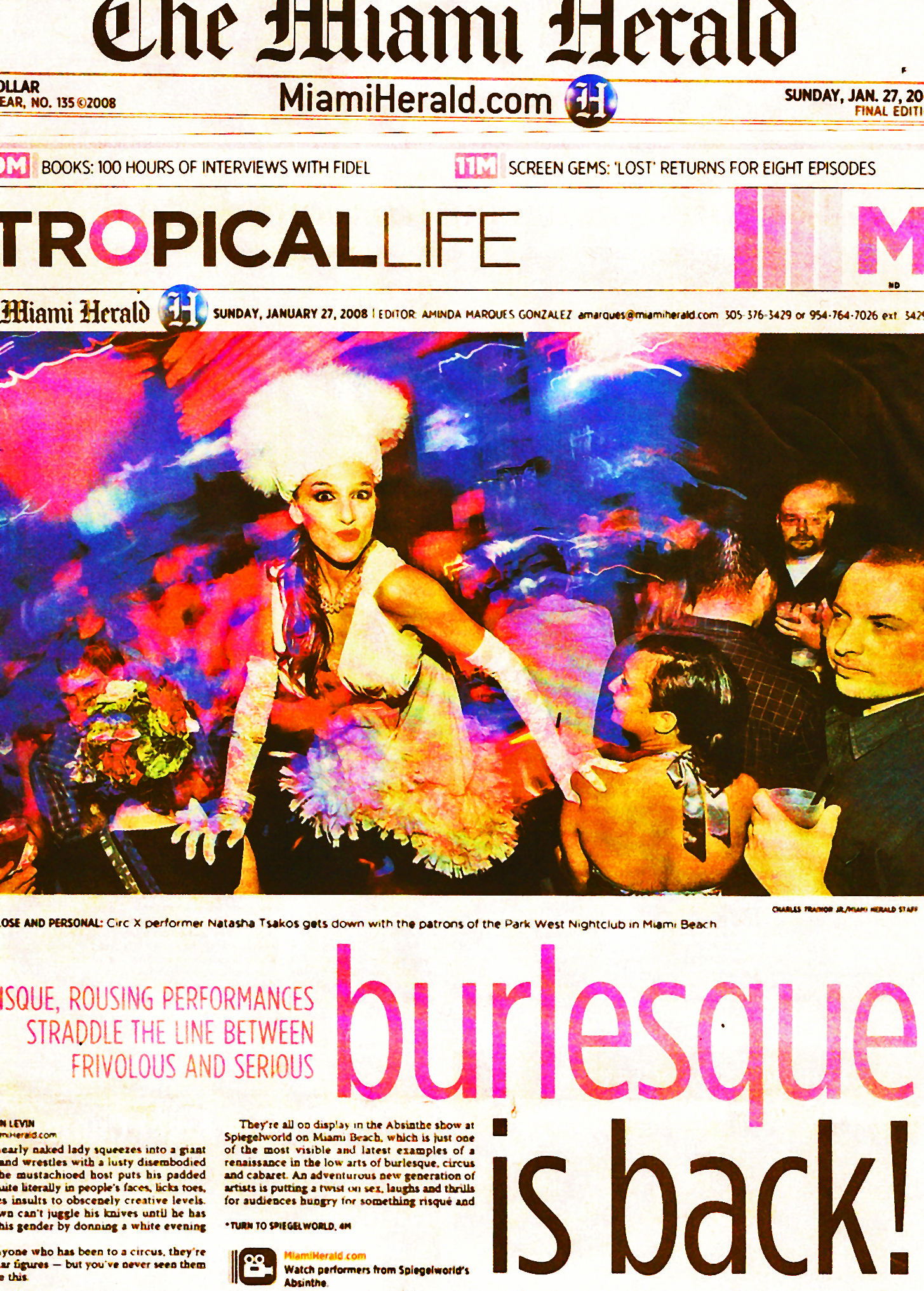MIAMI HERALD burlesque is b
