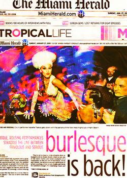 MIAMI HERALD burlesque is b