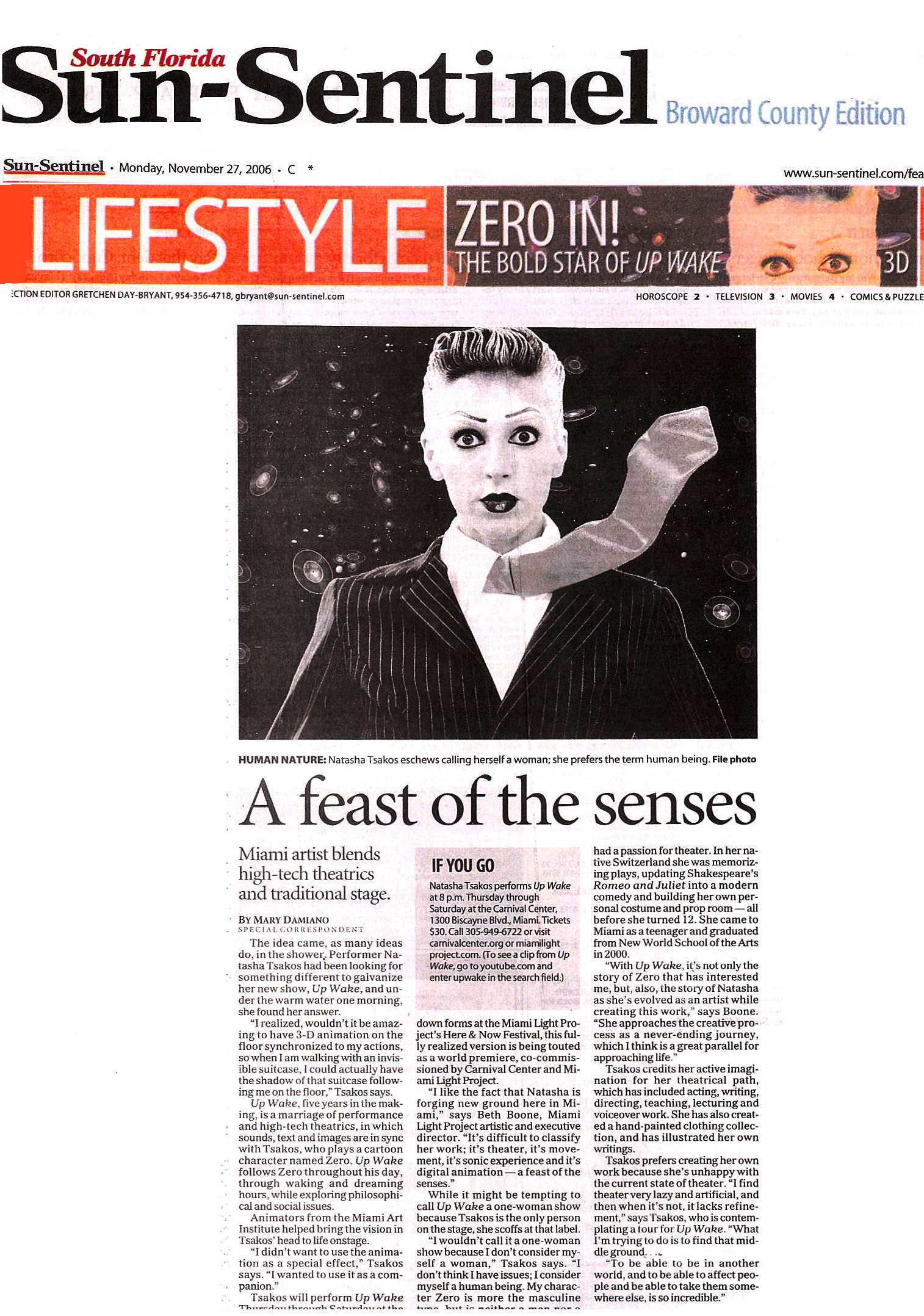 SUN SENTINEL A Feast of the Senses