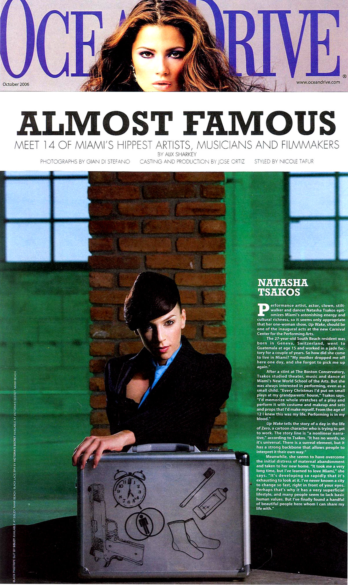 OCEAN DRIVE MAGAZINE Almost Famous