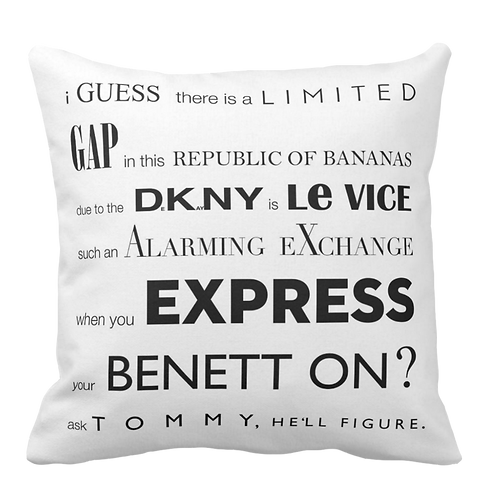 """""""The Fashionist"""" Pillow"""