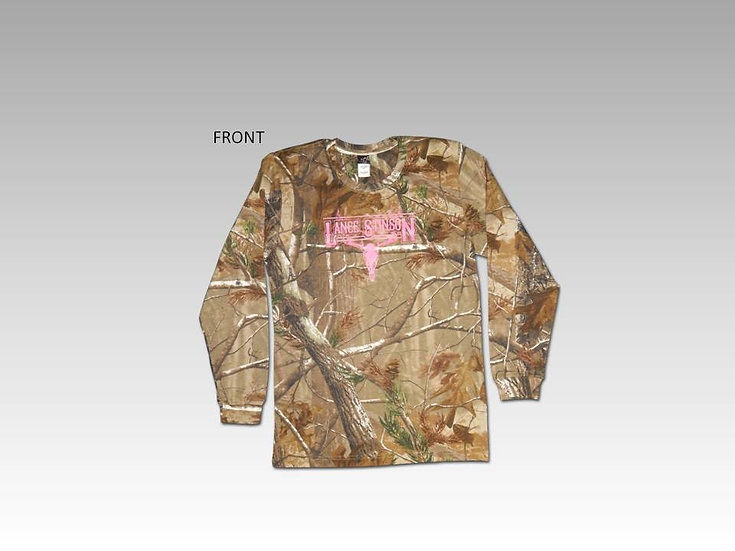 Ladies Long Sleeve Realtree Camo Shirt
