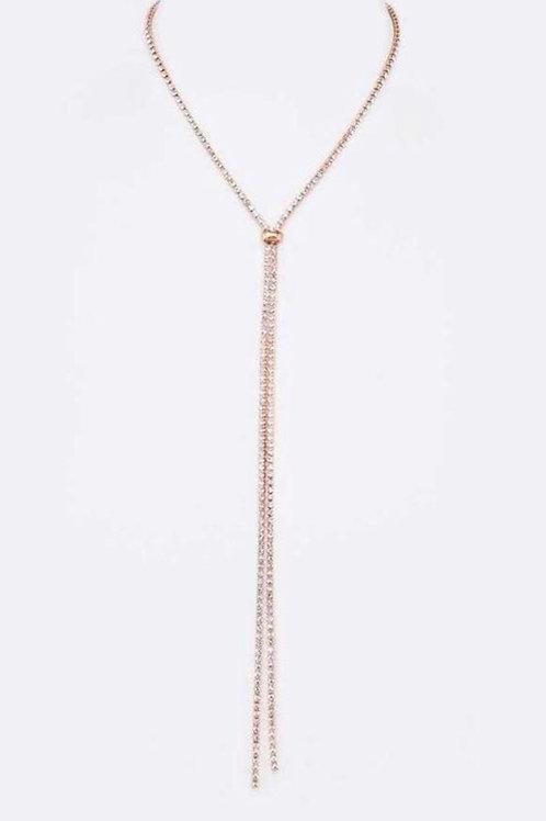 Rhinestone Sliding Necklace