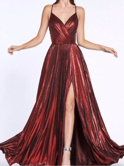 Ruby Metallic Gown