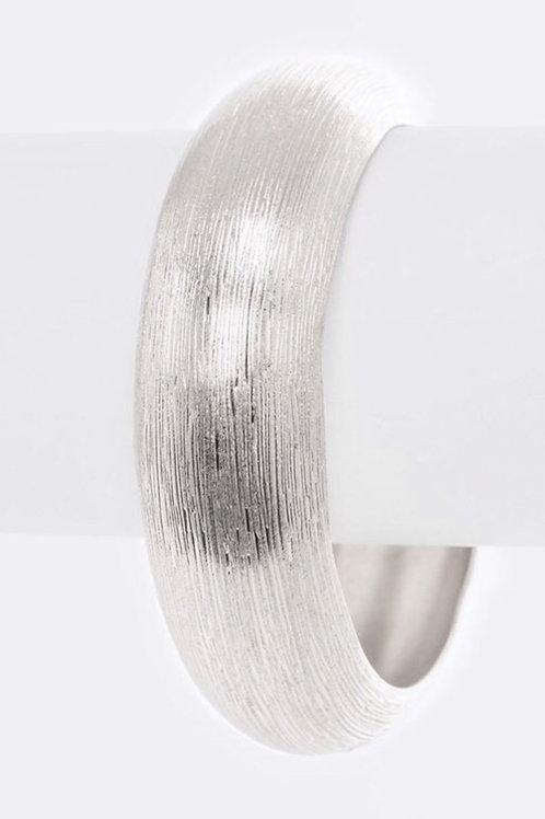 Silver Brushed Bangle