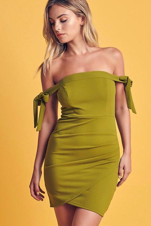 Tie Arm Mini Dress
