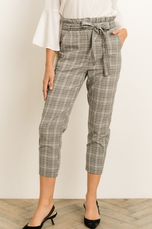 PLAID CAPRI TROUSERS