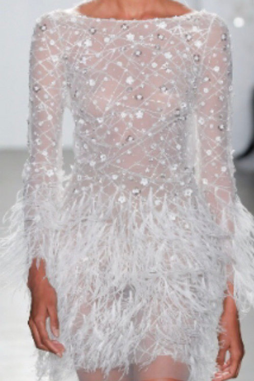 Custom Silver Dress