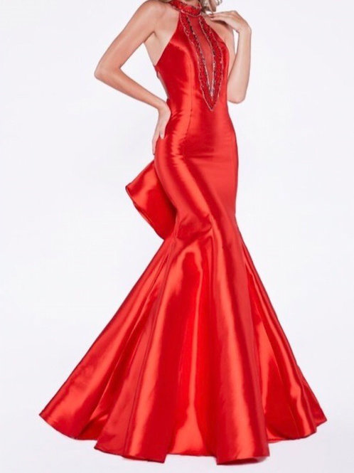 Red Mikado Gown