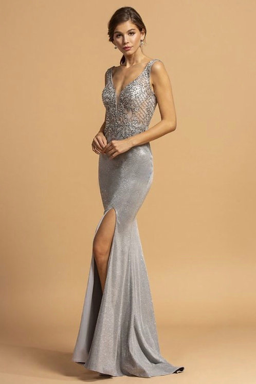 Fitted Silver Gown