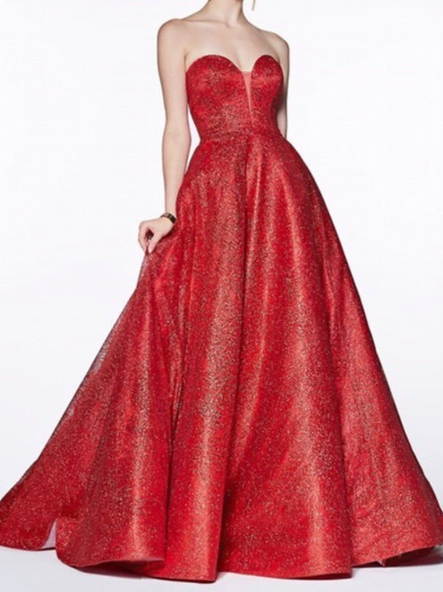 Red Swirl Gown