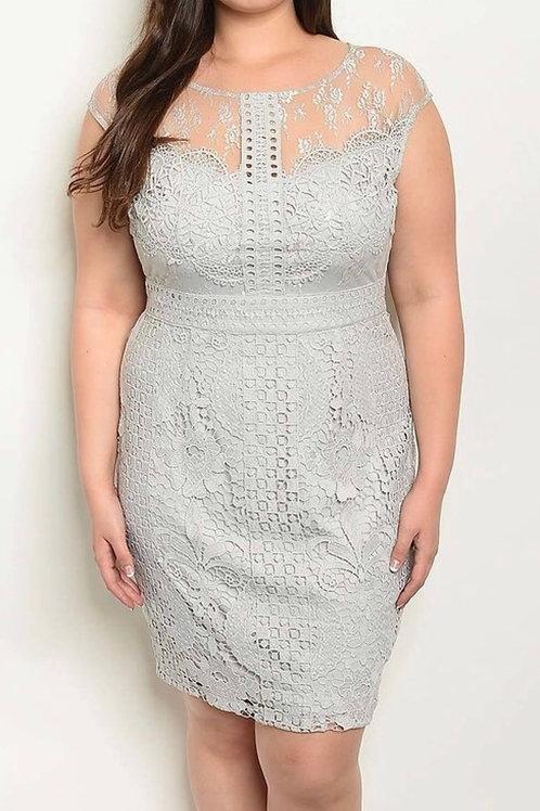 Plus Crochet Dress
