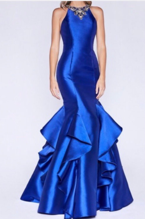 Blue Mikado Gown