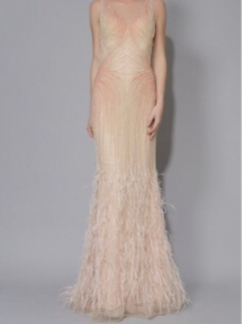 Custom Long Feather Gown