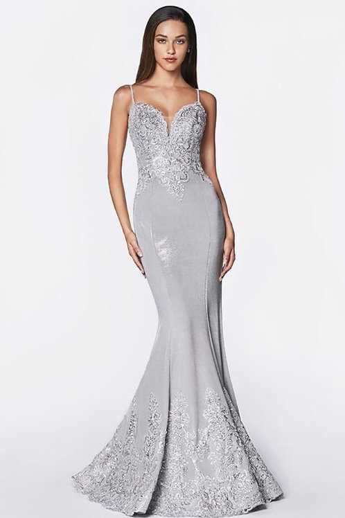 Silver Silhouette Gown
