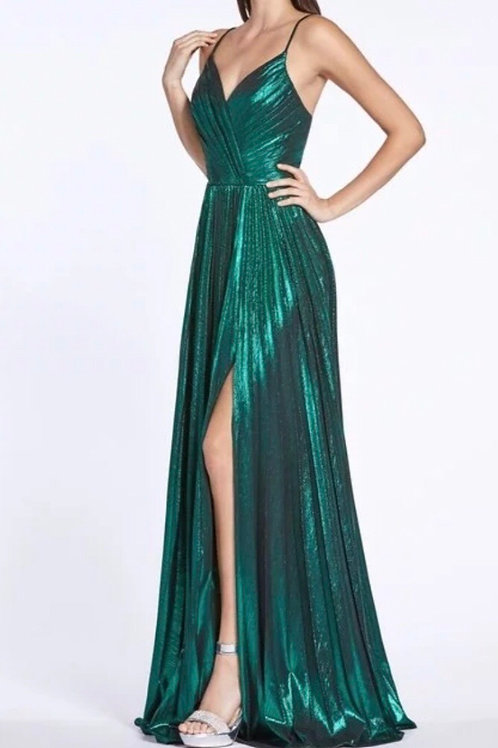 Emerald Metallic Gown