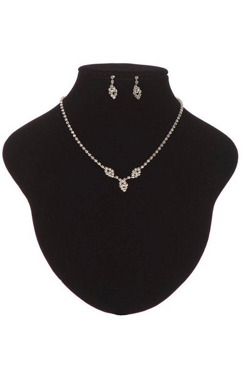 Two Piece Rhinestone Jewelry Set