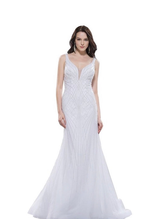 Pearl and Rhinestone Gown