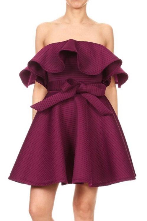 Textured Flounce Dress