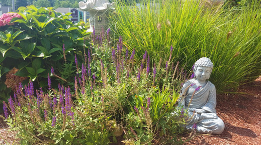 Our tranquil garden area was made with love by spa owner and visionary Cindy McCullough.