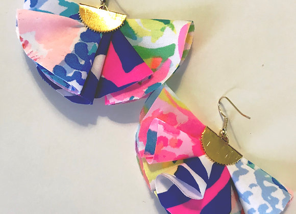 Lilly Mixed Pattern Ruffle Earrings