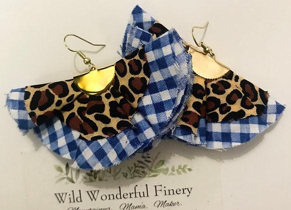 Wildcat Gingham Ruffle Earrings