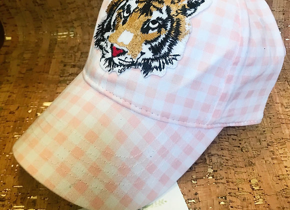 CATS Game Day Pink Gingham Baseball Hat