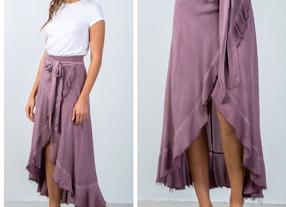 Mauve Wrap Skirt