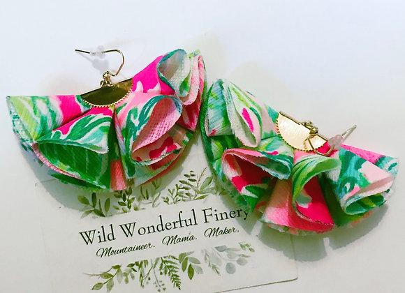 Lilly Ruffle Earrings