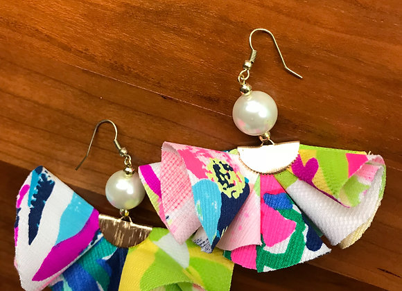 Mixed Lilly Pattern Ruffle Earrings