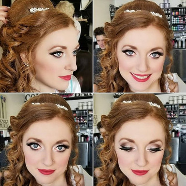RED HAIR & RED LIPS FOR THIS BRIDE