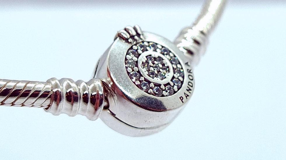 Sparkling Crown O Snake Chain Bracelet