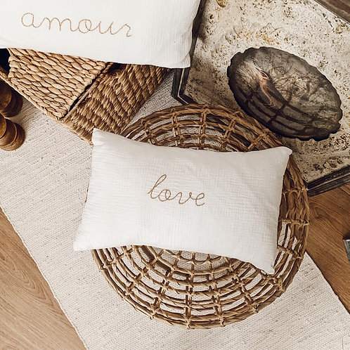 Coussin Love - Blanc