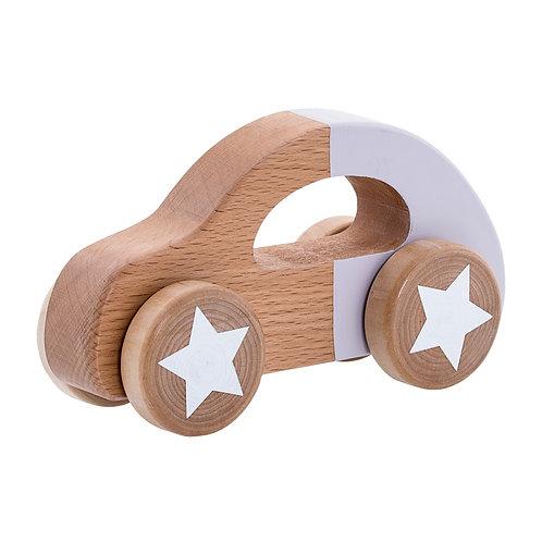 Petite voiture en bois - Mauve