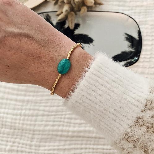Bracelet Alba - Turquoise/Doré