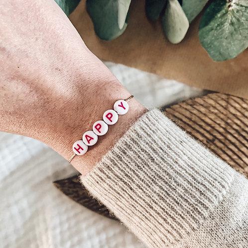 Bracelet Happy - Rose