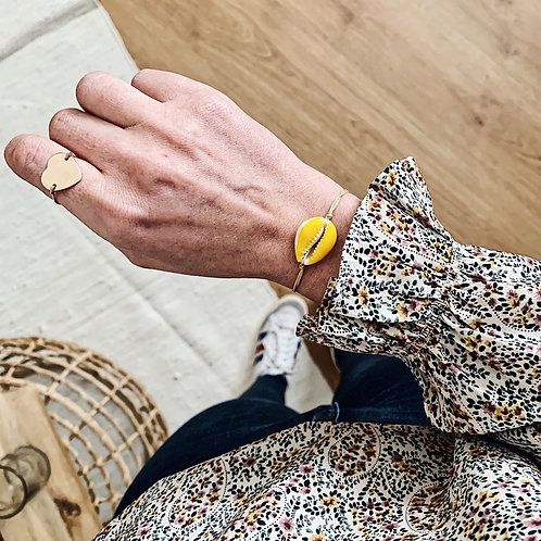 Bracelet Cauri - Jaune
