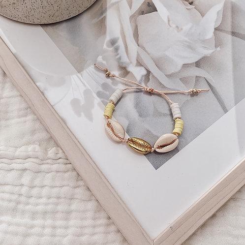 Bracelet Acapulco - Jaune/blanc/doré