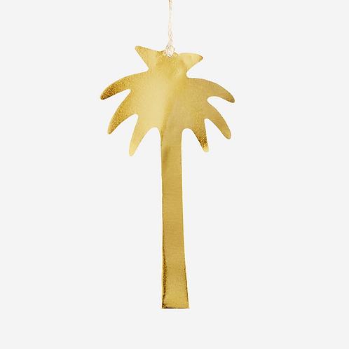 Palmier en laiton doré