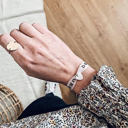 Bracelet Brazil blanc - Nacre/Coeur