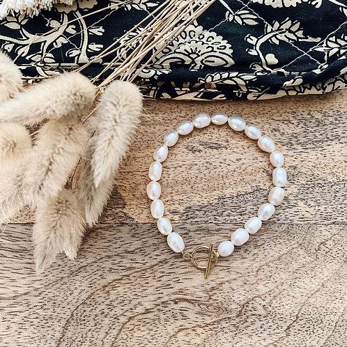 Bracelet avec perles d'eau douce