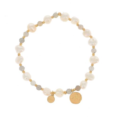 Bracelet Noélie - Gris labradorite