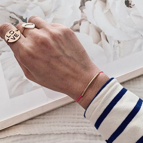 Bracelet cordon Jade - Rose fluo
