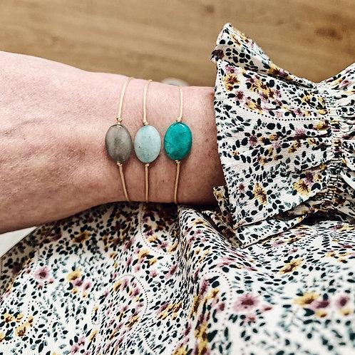 Bracelet cordon - Agate turquoise